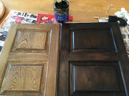is gel stain better than paint for cabinets java gel stain to darker our outdated maple bathroom