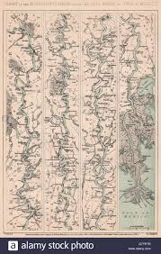 Map Of Mississippi River American Civil War Mississippi River From The Ohio To Gulf Of