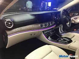 mercedes dashboard 2017 mercedes e220d lwb launched priced at rs 57 14 lakhs live