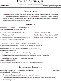 College Resume Templates Free Examples Of High Resumes Resume Example And Free Resume Maker