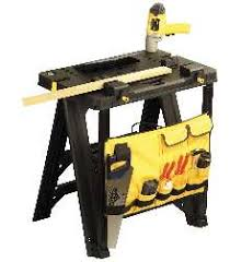 stanley folding work table folding workbench comes with storage tool bag