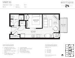 one bedroom floor plans studio floor plans boutique 28