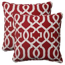 pillow indoor outdoor new geo corded throw