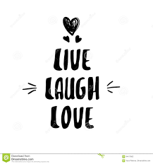 lettering modern calligraphy live laugh love stock vector image