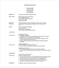 Resume For Internship Template Internship Resume Template 7 Free Documents In Pdf Word