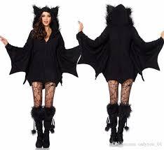 bat costume vire costume women black evil bat costume