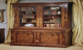bullseye glass door antique oak bookcase with glass doors