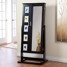 belham living white full length cheval mirror jewelry armoire with