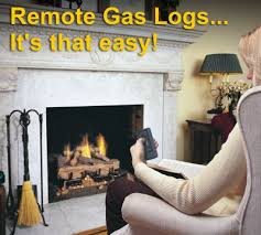 How To Install Gas Logs In Existing Fireplace by Remote Control Gas Logs