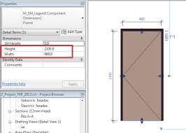 Standard Door Width Interior Faq How To Adjust Dimensions In Revit To Each Door Properly To