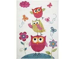 tappeto disegno tappeto per bambini bianco disegno gufi 120x170cm tappeti