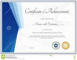 modern certificate template for achievement appreciation parti