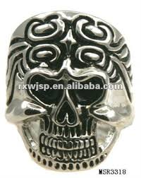 vintage style skull skeleton tattoo filigree ring skull wedding