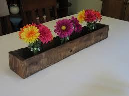 stained wood planter box u2022 mason jar centerpiece long wood box