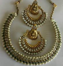 earrings necklace images Buy green colour necklace set with traditional ram leela earrings jpg