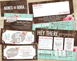 agnes and dora small business kit bundle business card thank