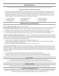 Trainer Resume Example Resume Examples For Training And Development
