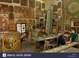 damascus furniture painting painter paint syria bazaar souk souq