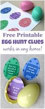 easter egg hunt clues with free printable spring for kids
