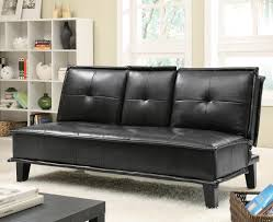 Black Sofa Sleeper by Vinyl Sofa Bed With Drop Down Table