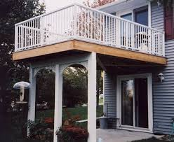 porch guide porch with balcony or deck above by vintage woodworks