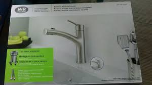 water ridge pull out kitchen faucet waterridge brushed nickel pull out kitchen faucet fp2b0000bn open