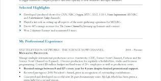 Resume Espanol Tv Host Resume Sample Producer Tv Host Resume Example