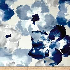 blue home decor fabric 17 48 us robert allen home aptura floral indigo from