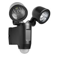 battery operated security lights blooma lumi graphite 1w battery powered pir twin spotlight