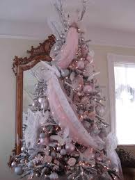 is candyland white christmas tree with pink decorations theme
