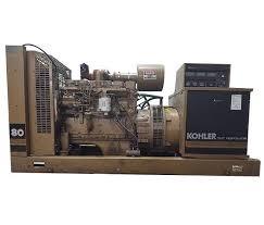 used 80 kw diesel generator set cummins kohler 6bt 5 9 l 208 240