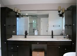 Bath Vanities Chicago Dark Wood Master Bathroom Vanities Granite Top Square Bowls Oil