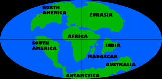 continental drift 65 million