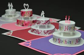 how to make a birthday cake or wedding cake pop up card creative