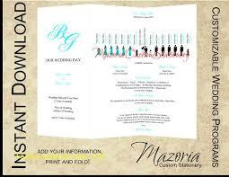 wedding programs trifold beautiful wedding program fan template free free template