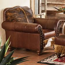 furniture cowhide armchairs with nailhead accent for awesome