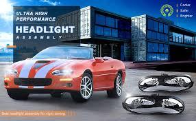 02 camaro headlights amazon com headlight assembly for 98 02 chevy camaro replacement