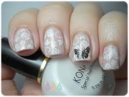 imagenes de uñas decoradas con konad rositas mariposa konad nails todos mis esmaltes