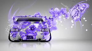 purple subaru subaru impreza wrx sti jdm butterfly lumia flowers car 2015