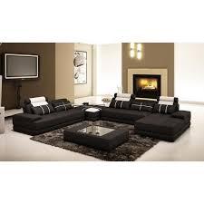 canape panoramique design canapé d angle cuir noir blanc design panoramique achat vente