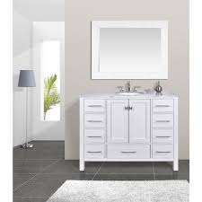 Inch Malibu Pure White Single Sink Bathroom Vanity Cabinet With - 48 white bathroom vanity cabinet