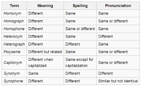 image result for homophones spelling words homophones