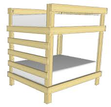 Wood Bunk Bed Plans by Twin Over Double Bunk Bed Plans Wooden Plans Rustic Wood Cornice
