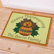 thanksgiving doormat personalized happy thanksgiving pumpkin doormats doormats
