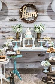 rustic baby shower blue rustic chic baby shower chic baby rustic chic and babies