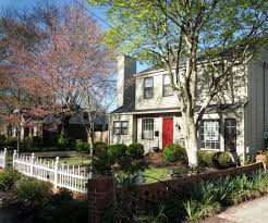 old fashioned house outdoors white picket fence at an old fashioned house living the