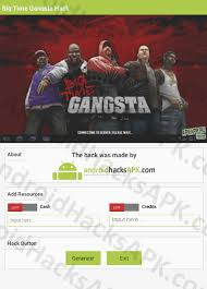 big time gangsta mod apk big time gangsta hack apk and credits