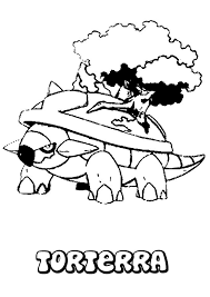 torterra pokemon coloring page more grass pokemon coloring sheets