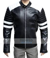 motorcycle style leather jacket fight club jacket black pitt leather jacket