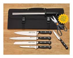 acero cutlery by winco commercial forged 7 piece knife kit with